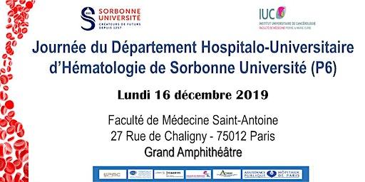 Journée du Département Hospitalo-Universitaire d'Hématologie de Sorbonne Un