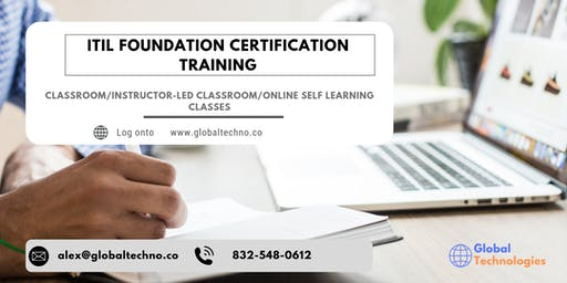 ITIL Foundation Classroom Training in Quebec, PE