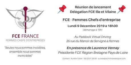 FCE Femmes Chefs d'Entreprise - Réunion de lancement de la délégation 35 billets