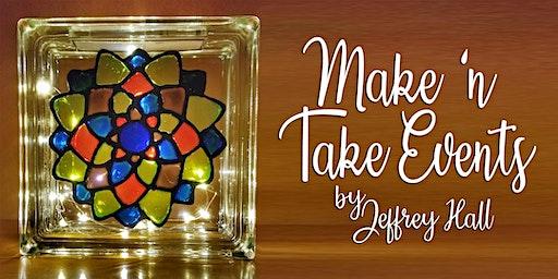 Make 'n Take - Stain Glass Mandala Glass Block