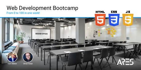 Web Development Bootcamp - From 0 to 100 in one week! [Januar 2020] tickets