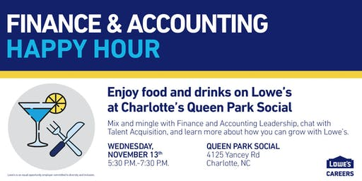 Lowe's Finance and Accounting Happy Hour at Queen Park Social