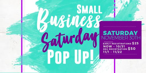 Small Business Saturday - Pop Up