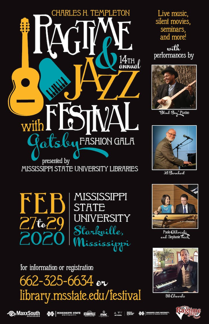 Mississippi Festivals And Events 2020.2020 Charles H Templeton Ragtime Jazz Festival Tickets Thu