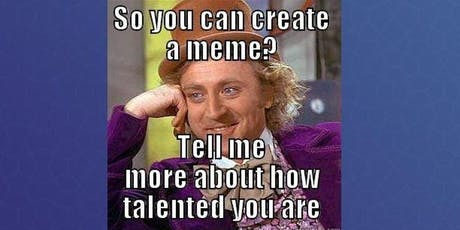Create your own meme generator | HTML, CSS & JS - beginners workshop tickets