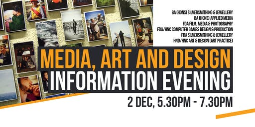 Media, Art and Design Information Evening