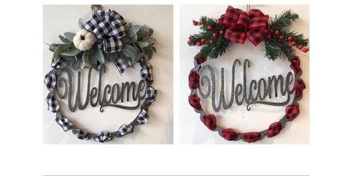 Buffalo Plaid Welcome Wreath  (2019-11-14 starts at 7:00 PM)