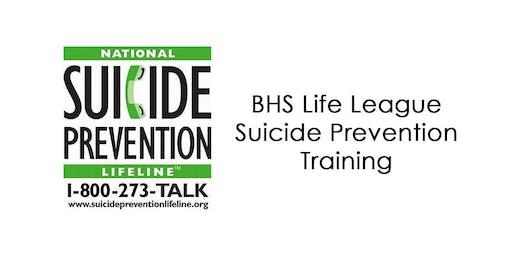 BHS Life League Suicide Prevention Training
