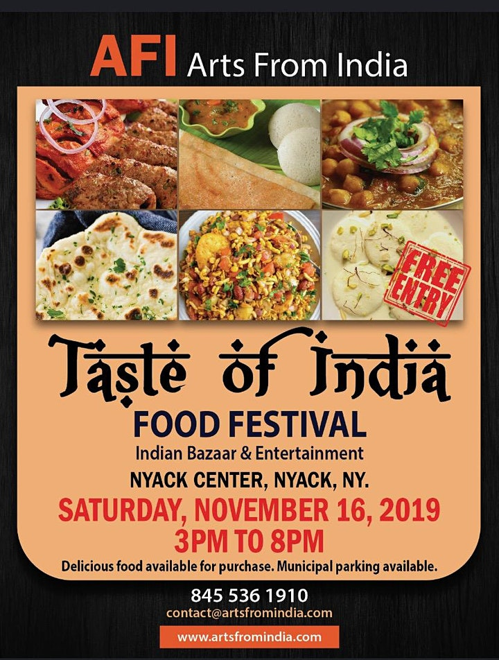 Taste of India Food Festival, Indian Bazaar and Live Music image