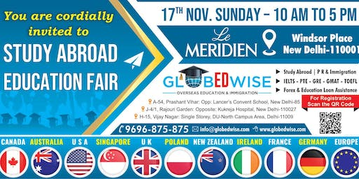 Globedwise Study Abroad Education fair 17th Nov 2019