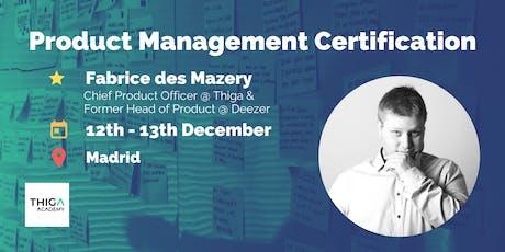 Product Management Training & Certification (2 days) - Madrid entradas
