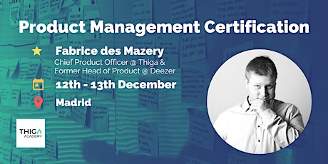 Product Management Training & Certification (2 days) - Madrid entradas