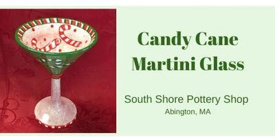 Paint Your Own Candy Cane Martini Glass