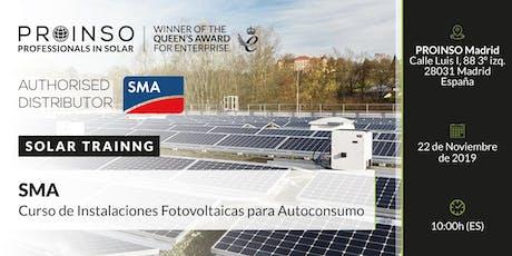 PROINSO Curso Instalaciones Fotovoltaicas en Autoconsumo - SMA entradas