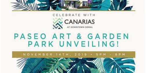 Celebrate with Canarias of Downtown Doral Paseo Art & Garden Park Unveiling
