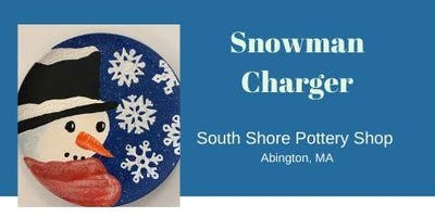 Paint Your Own Snowman Charger