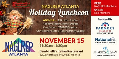NAGLREP Atlanta Holiday Luncheon Nov 15