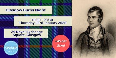 Glasgow Burns Night tickets