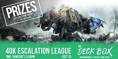 Warhammer 40,000 Escalation League tickets