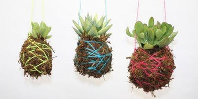 Kokedama Christmas String Garden Workshop