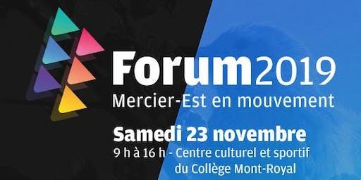 Forum 2019 - Mercier-Est en mouvement
