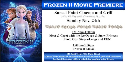FROZEN Movie Premier Meet & Greet with Princesses!