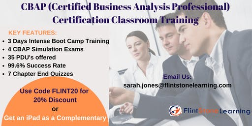CBAP (Certified Business Analysis Professional) Certification Training In Columbia, SC