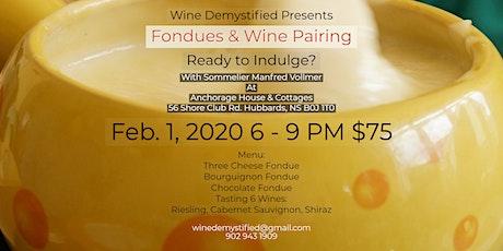 Fondues & Wine Pairing tickets