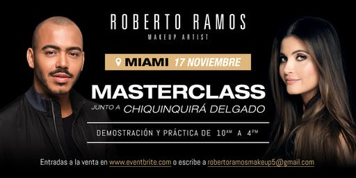 Roberto Ramos Master Makeup Class with Chiqui Delgado