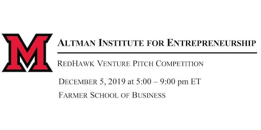 2019 Fall Semester RedHawk Venture Pitch Competition (by invitation only)