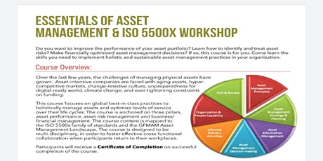 Essential of Asset Management & ISO 5500x Workshop tickets
