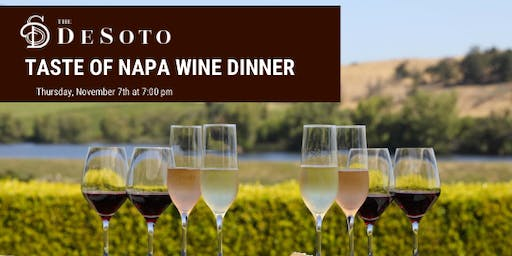 Taste of Napa Wine Dinner at The DeSoto