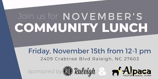 November Community Lunch