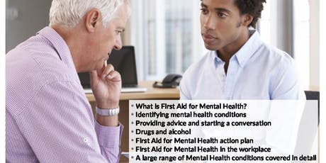 Level 3 Supervising First Aid for Mental Health Course tickets