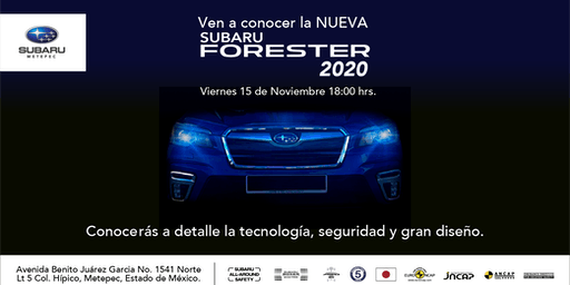 Reveal Subaru Forester 2020