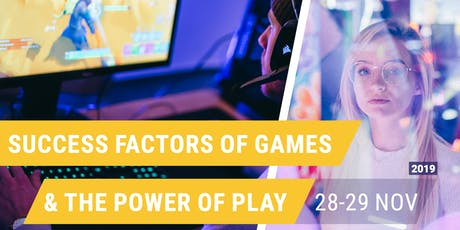 Masterclass: Success Factors of Games & The Power of Play tickets