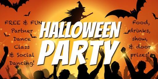 Fun Spooktakular Halloween Themed Social Dancing Evening! Free Group Class & Social Dancing Party!
