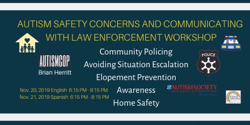 Autism Safety Concerns & Communicating with Law Enforcement English & Spanish (Free)