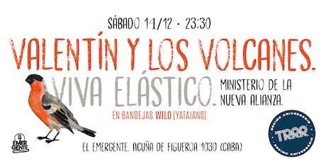 Triple RRR diez años: VALENTIN Y LOS VOLCANES + VIVA ELASTICO + MDLNA entradas
