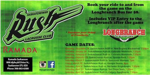 Saskatchewan Rush vs Calgary Roughnecks April 18/20