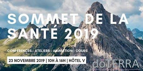 Sommet de la santé 2019 billets