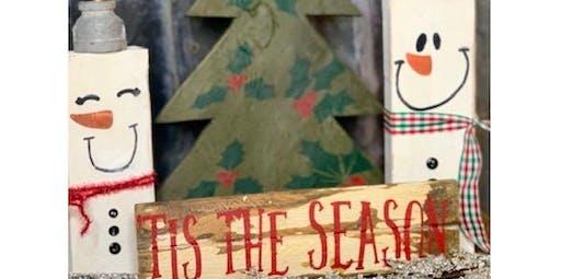 4 piece Christmas Decor Workshop (2019-11-19 starts at 5:30 PM)