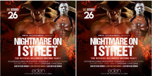 THE NIGHTMARE ON EYE ST HALLOWEEN MEGA PARTY THIS SATURDAY AT EDEN LOUNGE