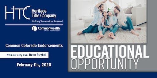 Common Colorado Endorsements