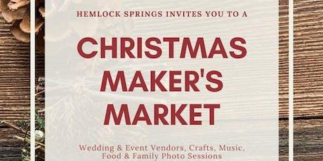 Hemlock Springs Christmas Maker's Market tickets