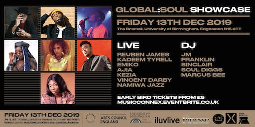Global Soul Live Showcase: Reuben James, Kadeem Tyrell, Emiko, Ajia, Kezia, Vincent Darby & Namiwa Jazz