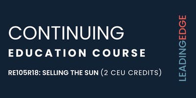 CEU: Selling the Sun with Craig Foley