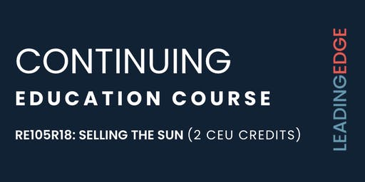 CEU: Selling the Sun with Craig Foley