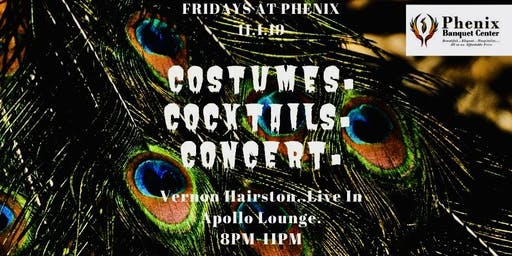 Costumes. Cocktails. Concert.