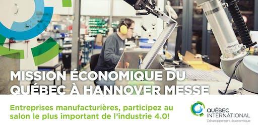 Mission économique du Québec à Hannover Messe – édition 2020
